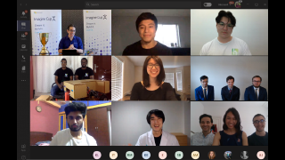 The Imagine Cup 2020 finalists all together on a Microsoft Teams conference call